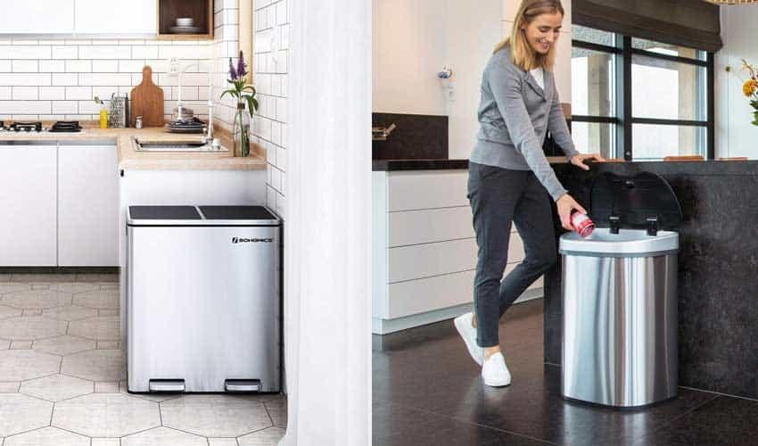 dubbele-prullenbak-voor-afvalscheiding-in-keuken
