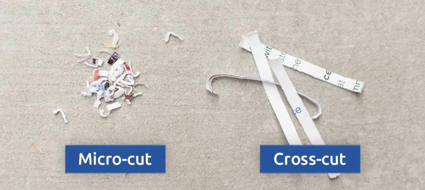 Mikroschnitt-Querschnitt-Schredderpartikel