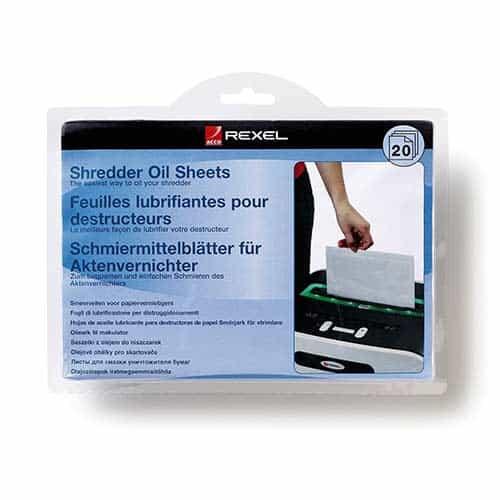 20-pack-Rexel-Shredder-Oil-Sheets-Pack