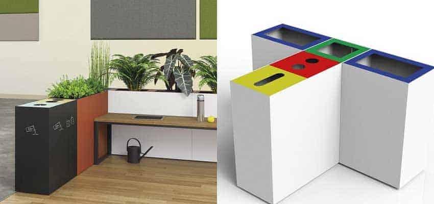Kommerzielle-Mülleimer-Collage