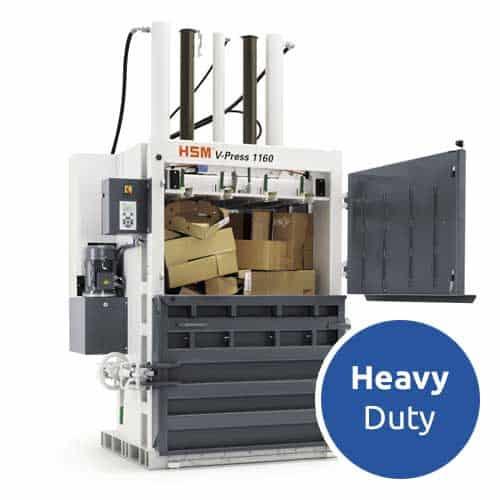 HSM-V-Press-1160-eco-heavy-duty-cardboard-baler