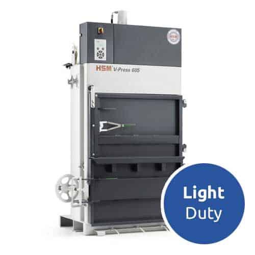 HSM-V-Press-605-light-duty-cardboard-baler