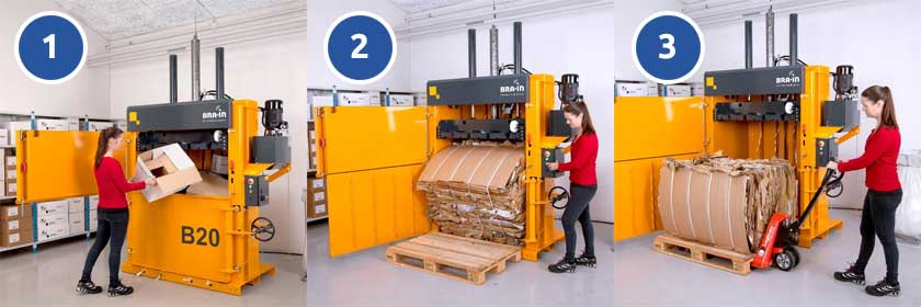 how-does-a-cardboard-baler-work