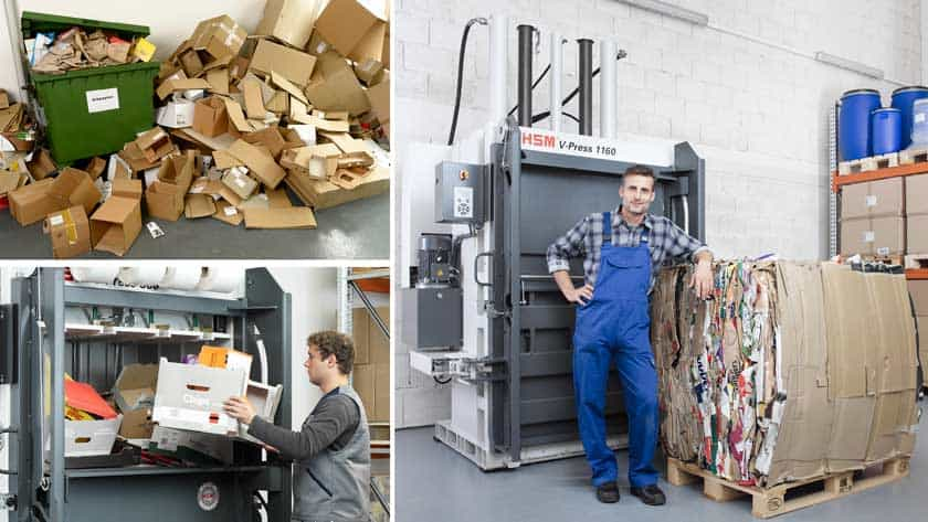 hsm-cardboard-baler-process