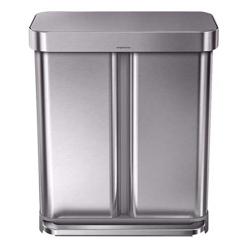 Simplehuman-RVS-duo-pedaalemmer-recycling