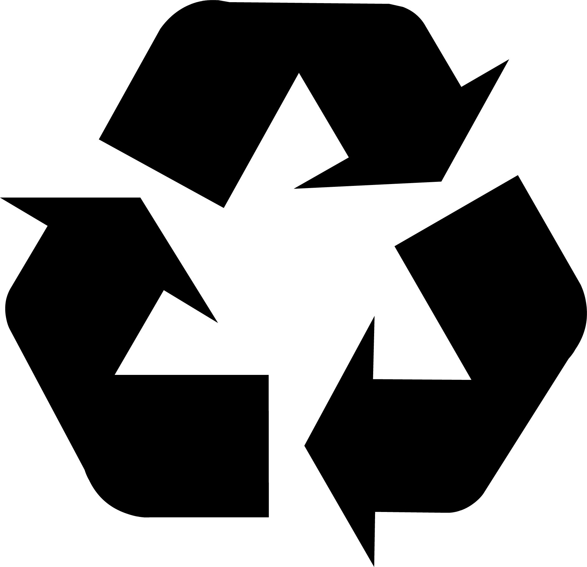 Image result for recycle symbol black